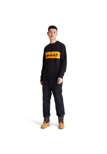 CUT AND SEW CREW - Sweatshirt - black-dark cheddar
