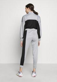 Missguided Petite - PETITE HIGH NECK ZIP TOP AND LEGGING - Tracksuit - black/grey - 2