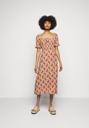 EL PASO MIDI DRESS - Korte jurk - sable/burgundy