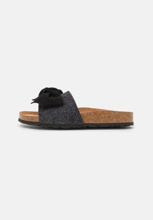 SILVIA - Pantofle - black/graphite