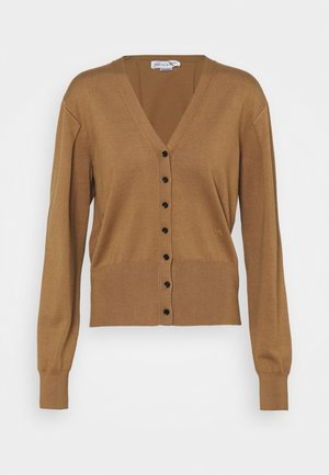 BLEND LAYERING PLEAT DETAIL CROPPED - Cardigan - camel