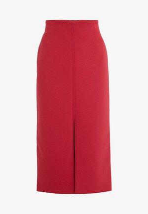 SKIRT SEVERINE - Pencil skirt - rouge/eggshell