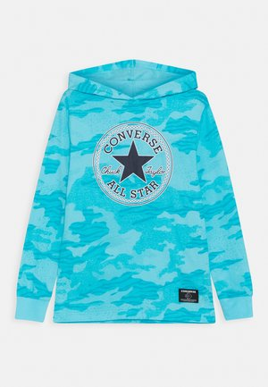 CHUCK PATCH HOODED LONG SLEEVE UNISEX - Long sleeved top - bleached cyan