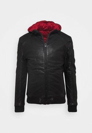 GRAYDON - Veste en cuir - black