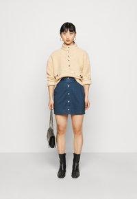 Even&Odd Petite - Pouzdrová sukně - dark denim - 1