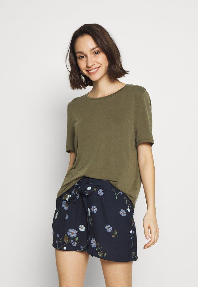 OBJANNIE - Basic T-shirt - burnt olive
