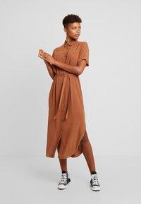 Envii - ENSILJAN DRESS - Shirt dress - toffee - 0