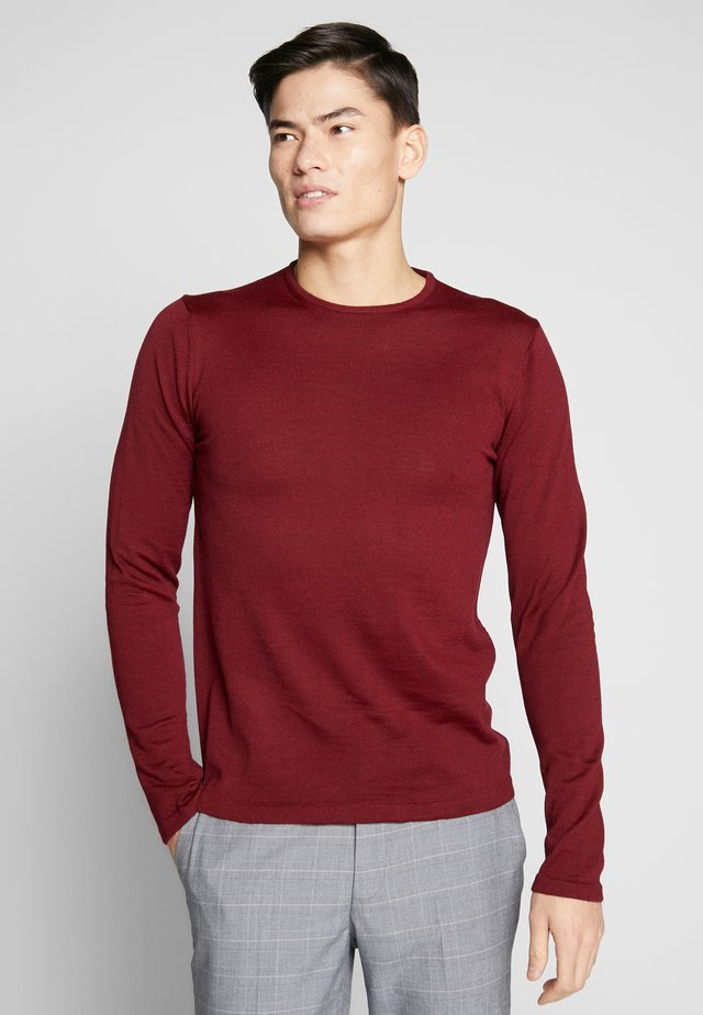 O NECK - Svetr - wine red