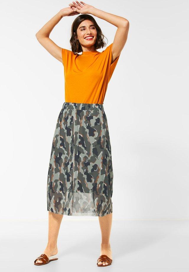 MESH - A-line skirt - grün