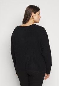 Pieces Curve - PCSUNNY NECK - Jumper - black - 2