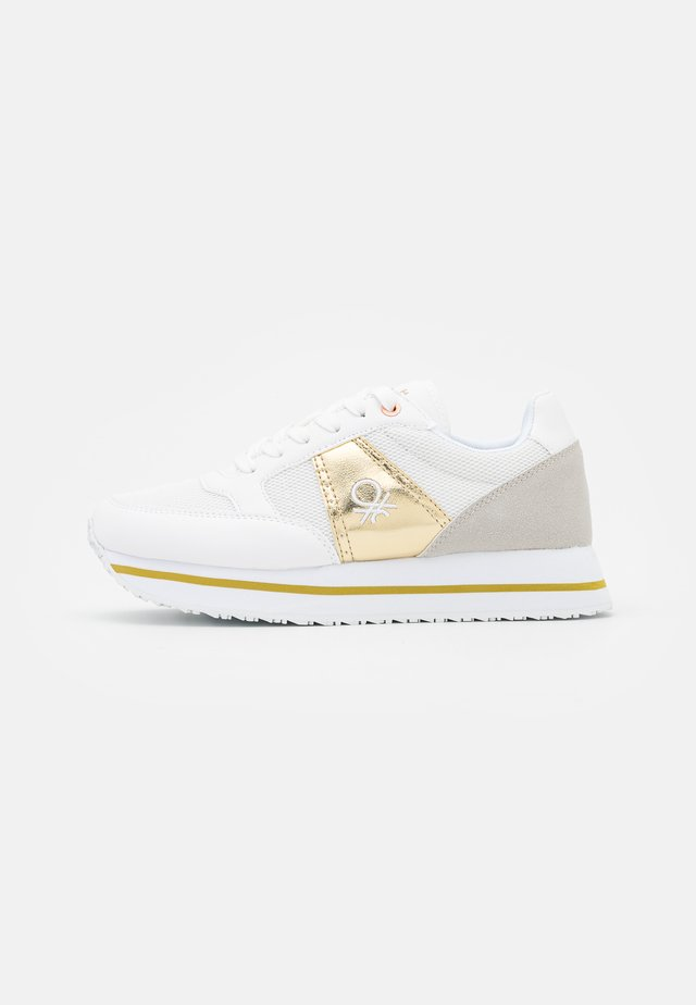 BULL - Sneakers laag - white/gold