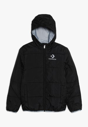 WORDMARK QUILTED JACKET - Winter jacket - black