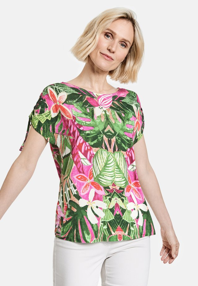 T-shirt print - violet/pink/green