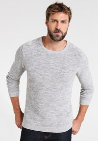 Selected Homme - SHXNEWVINCEBUBBLE CREW NECK - Jumper - marshmallow/twisted light grey - 0