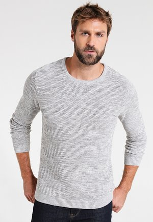 SHXNEWVINCEBUBBLE CREW NECK - Stickad tröja - marshmallow/twisted light grey