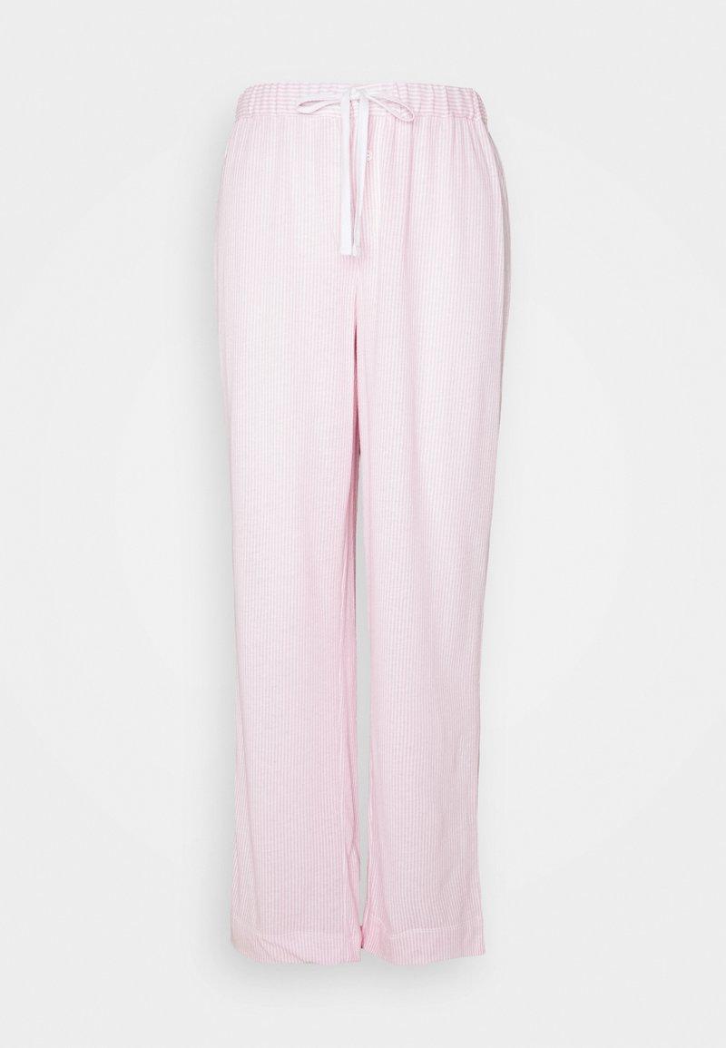 Lauren Ralph Lauren - SEPARATE LONG PANTS - Pyjama bottoms - pink/white