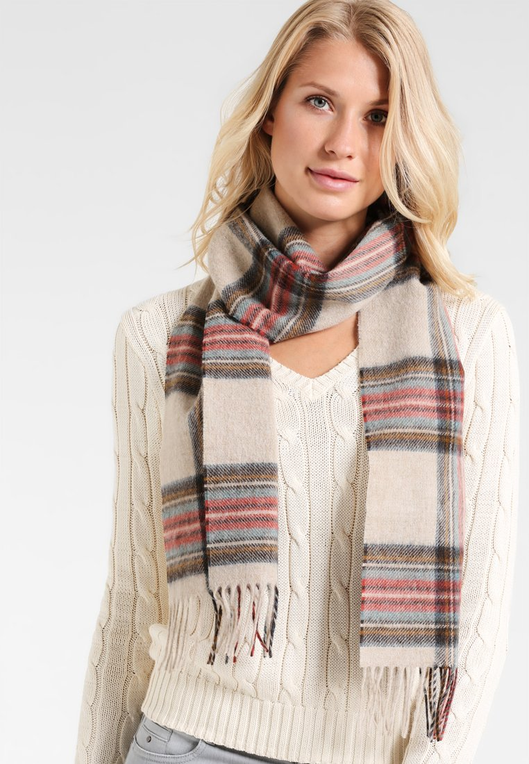 Barbour - COUNTRY CHECK - Scarf - cream