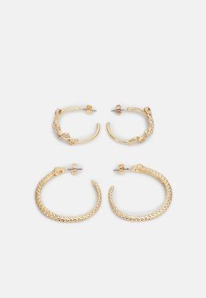 PCJADA HOOP EARRINGS 2 PACK - Earrings - gold-colored/clear/green