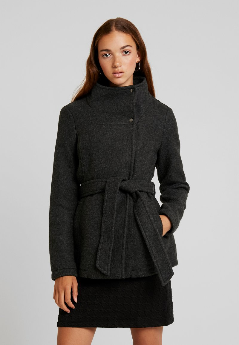 Vero Moda - VMBRUSHED MYRA JACKET  - Fleece jacket - dark grey melange