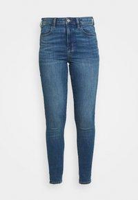 SUPER HI RISE - Jeans Skinny Fit - medium bright indigo