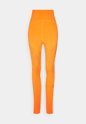 TRUEPUR - Legginsy - signal orange