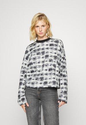 AWAKE TEE - Long sleeved top - black/white