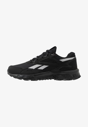 RIDGERIDER 5.0 - Neutral running shoes - black/steel grey/solar pink
