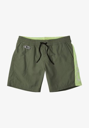 Swimming shorts - olive leaves