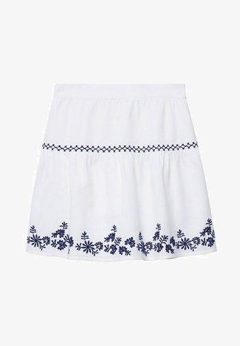 BRODÉE - A-line skirt - blanc cassé