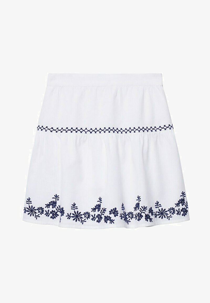Mango - BRODÉE - A-line skirt - blanc cassé