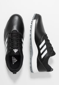 adidas Golf - TRAXION - Golfové boty - core black/footwear white/silver metallic - 1