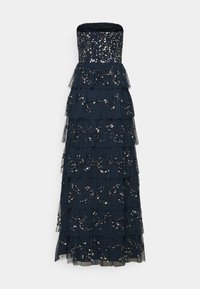 Maya Deluxe - EMBELLISHED STRAPLESS TIERED MAXI DRESS - Společenské šaty - navy - 7