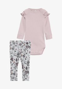 Name it - BODY SET - Leggings - Trousers - sky gray/violet - 4