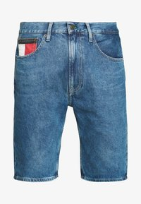 REY RELAXED SHORT - Denim shorts - blue denim