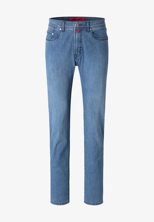 Straight leg jeans - mid blue washed