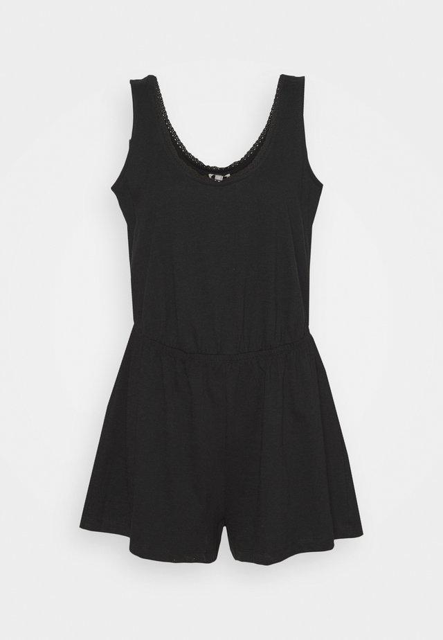 SLUB CROCHE - Jumpsuit - black