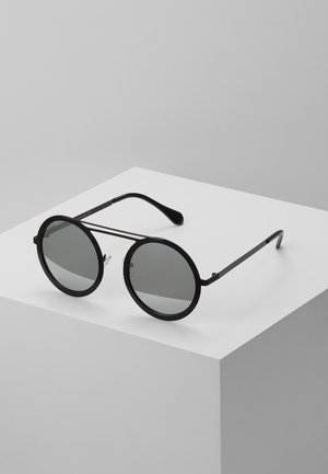 CHAIN SUNGLASSES - Sunglasses - silver mirror/black