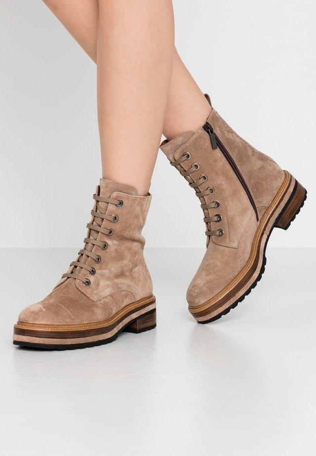 ANDREA - Platform ankle boots - beige