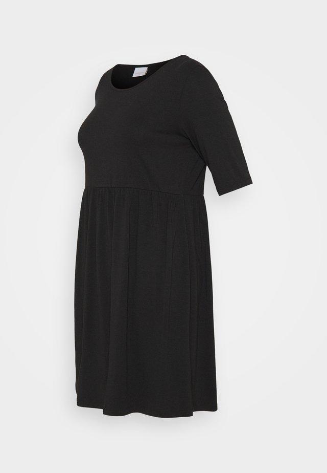 MLELNORA 2/4 SHORT DRESS - Žerzejové šaty - black