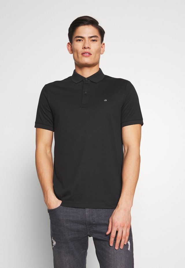 SOFT INTERLOCK SLIM - Poloshirt - black