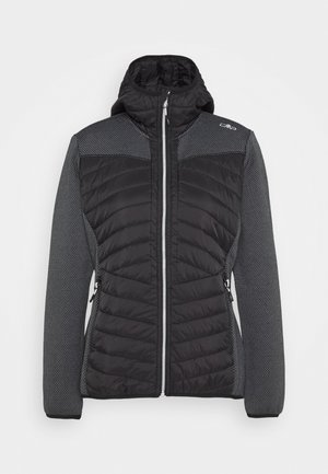WOMAN JACKET FIX HOOD - Outdoor jakke - nero