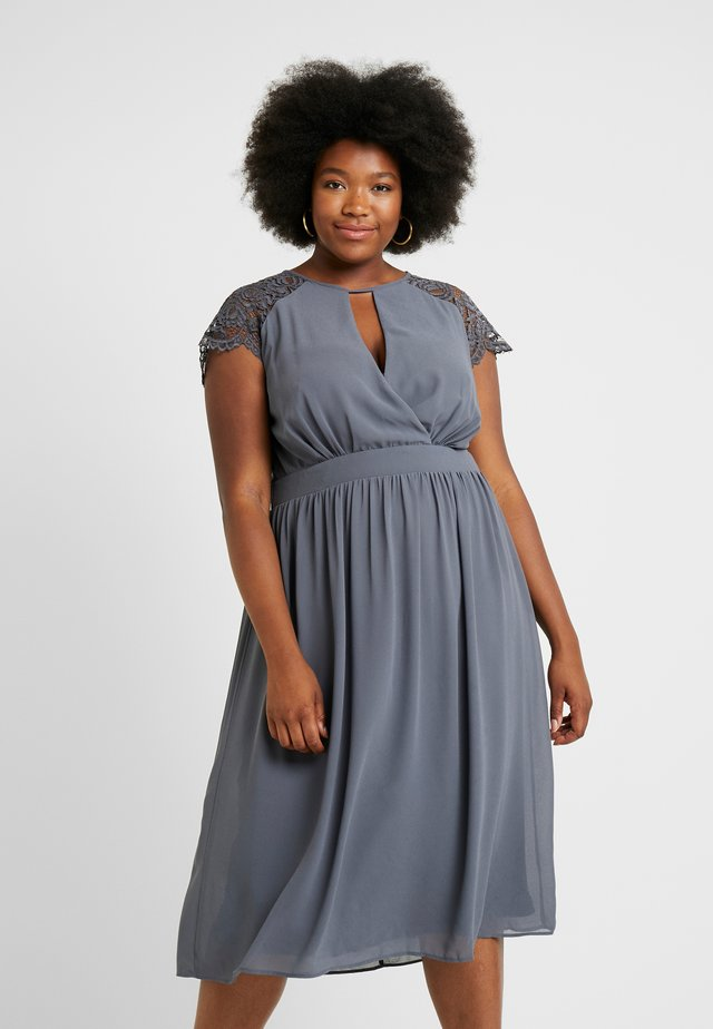 NEITH MIDI DRESS - Vestito elegante - vintage grey