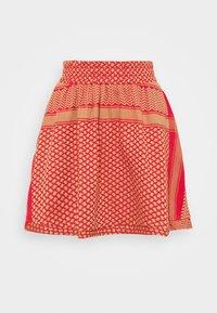 CECILIE copenhagen - SKIRT - A-line skirt - camel/red - 0