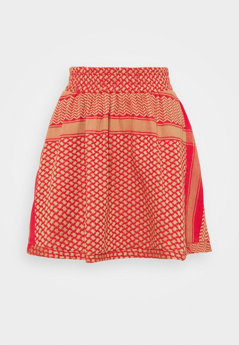 CECILIE copenhagen - SKIRT - A-line skirt - camel/red