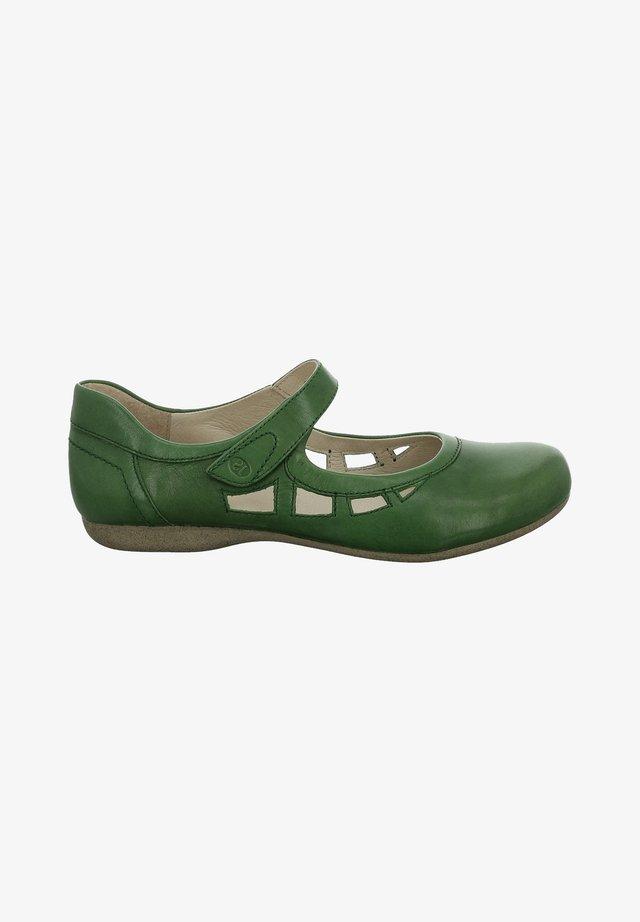 Ballerina's met enkelbandjes - green