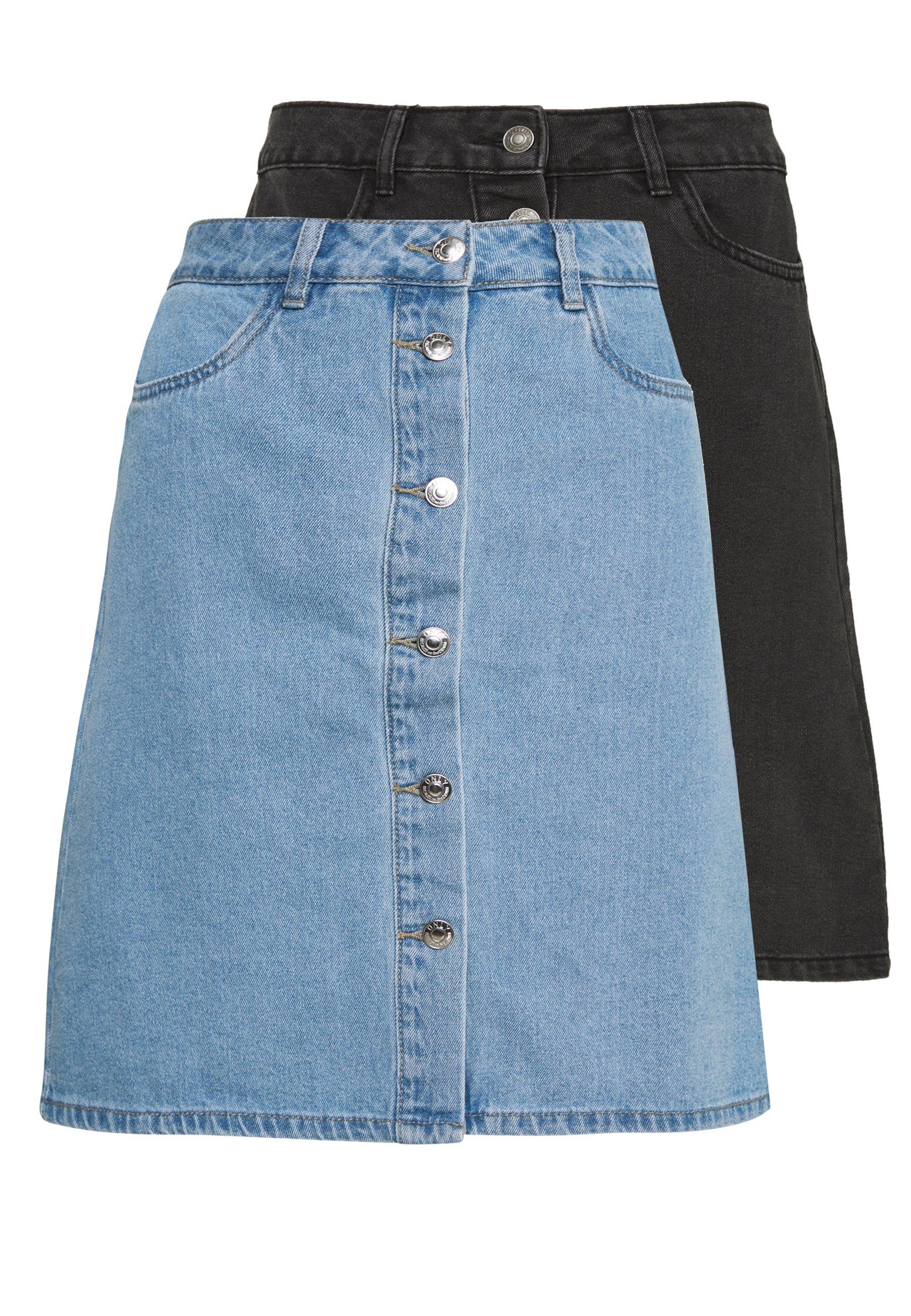 Women ONLFARRAH REG SKIRT 2 PACK - A-line skirt