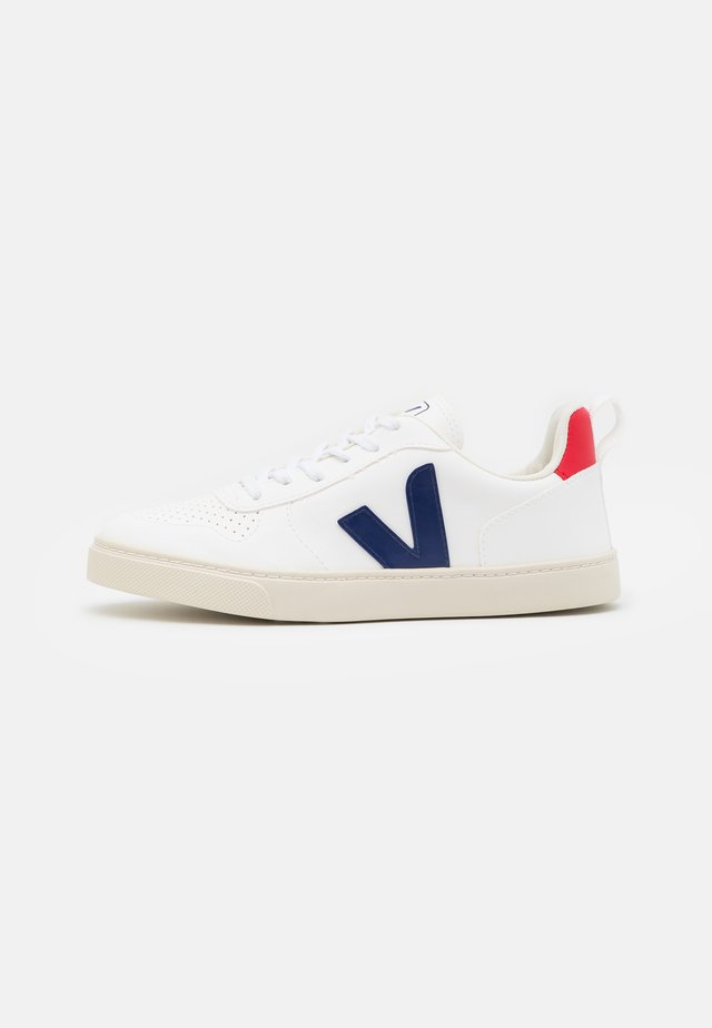 SMALL V-10 LACES UNISEX - Trainers - white/cobalt/pekin