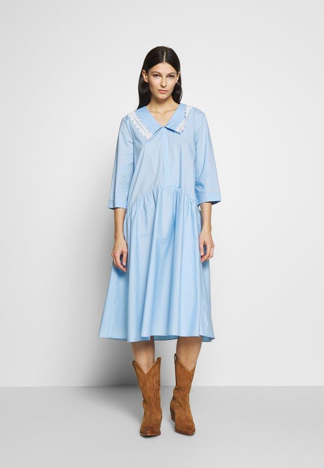DRESS - Shirt dress - celeste