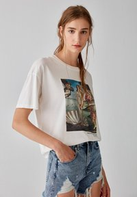 PULL&BEAR - T-shirt con stampa - white - 0