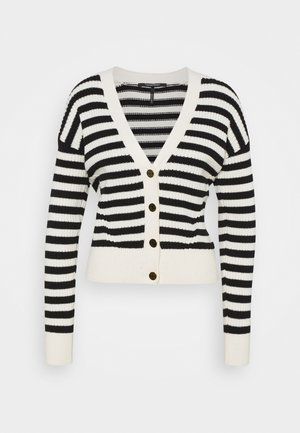 CHUNKY - Cardigan - offwhite/black